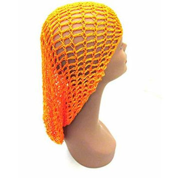 Extra Long Hair Net Snood - Orange, Great for hair cover, comfortable, large, extra large,