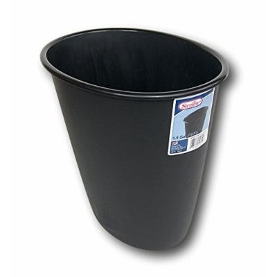 Sterilite Black Plastic Oval Wastebasket - 1.5 Gallon