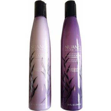 Nuance Salma Hayek Blue Agave Curls & Waves Hair Care Bundle: 10 fl oz Shampoo and Conditioner