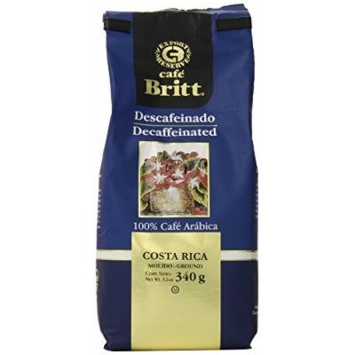 Cafe Britt Costa Rica Decaffeinated Ground Coffee, 12-Ounce Bags (Pack of 2)