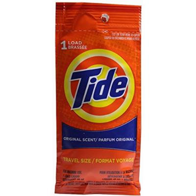 Tide Travel Size, Original Scent Liquid Laundry Detergent, 1 Load (Pack of 24)