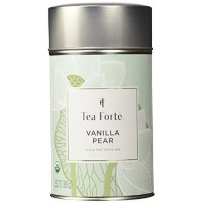 Tea Forte Lotus VANILLA PEAR Loose Leaf Organic White Tea, 2.82 Ounce Tea Tin