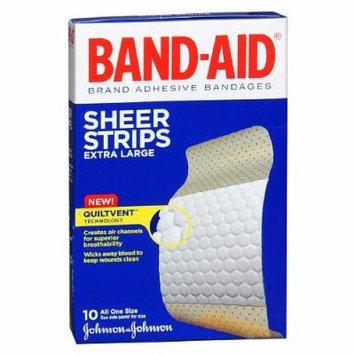 Band-Aid Sheer Sheer Adhesive Bandages, Extra Large 10 ea