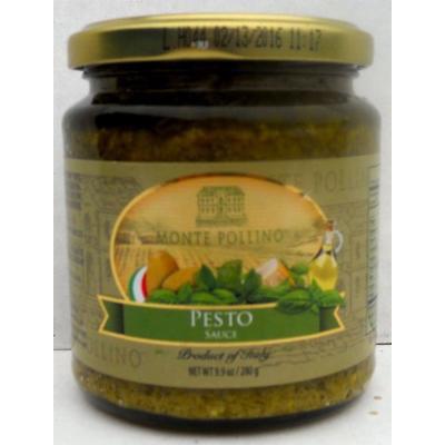 Monte Pollino (12 pack) Pesto Sauce (Basil) 9.9oz jars from Italy