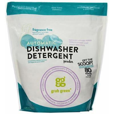 Grab Green Natural Automatic Dishwashing Detergent Powder, Fragrance Free, 80 Loads