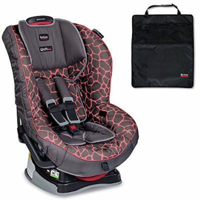 Britax Marathon G4.1 Convertible Car Seat w Mats, 2-Count, Black (Pink Giraffe)