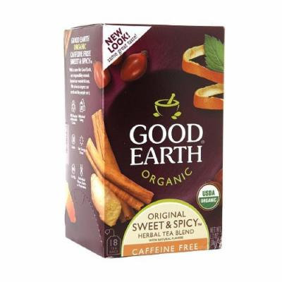Good Earth Organic Herbal Tea, Sweet & Spicy 18 bags PACK OF 2