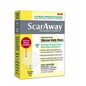 ScarAway Silicone Daily Disc Scar Sheets, 60 Round Scar Treatment Sheets