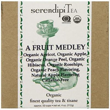 SerendipiTea A Fruit Medley, Organic Fruit Blend Tisane, 4 Ounce Box