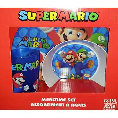 Zak! Super Mario 3 Piece Mealtime Set
