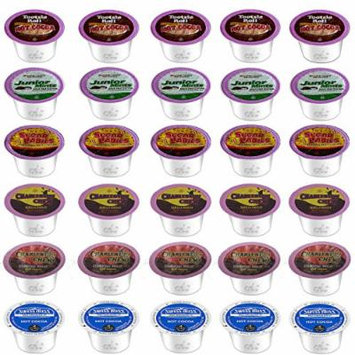 30 Count - Tootsie Roll Hot Cocoa Variety Pack for Keurig® K-cup® Brewers - Featuring Tootsie Roll, Sugar Babies, Junior Mints, Charleston Chew Vanilla, Charleston Chew Chocolate and Charleston Chew Strawberry (1)