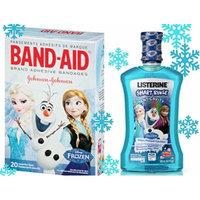 Disney Frozen Listerine Smart Rinse Anticavity Fluuoride Rinse Mouthwash Plus Bonus Band-Aid Brand Adhesive Bandages