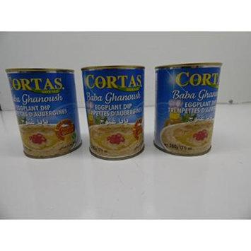 Cortas Baba Ghanoush Eggplant Dip 13.4 Oz X 3 Pack