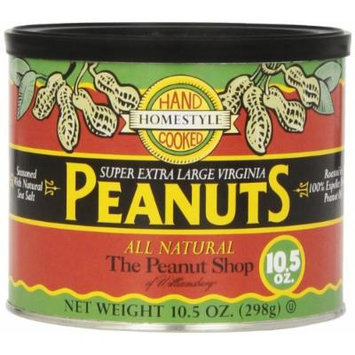 The Peanut Shop of Williamsburg Homestyle Peanuts with Sea Salt, All Natural, 10.5 Ounce (Pack of 12)