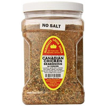 Marshalls Creek Spices Family Size Canadian Chicken No salt Seasoning 44 Ounce