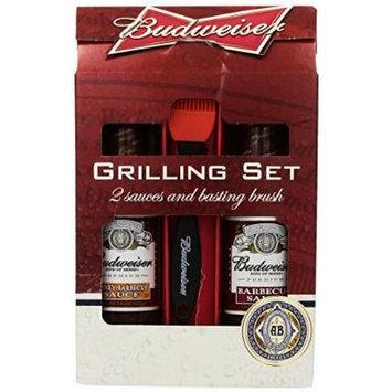 Budweiser 2 BBQ Sauce and Basting Brush Set