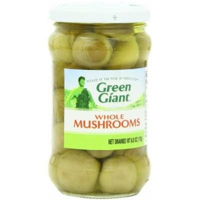 Green Giant Whole Mushrooms, 6-Ounce (Pack of 6)
