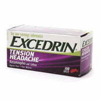 Excedrin Tension Headache Caplets 100 Ct Pack of 3