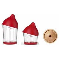 MIMIJUMI Infant and Baby Breastfeeding Style Milk Bottle Set ((1) 4 oz Bottle & (1) 8 oz Bottle & (1) Med Flow Nipple)