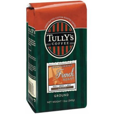 Tully's Coffee Decaf French Roast, Ground , 12 Ounce Bags (Pack of 3)