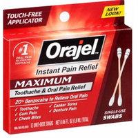 Orajel Maximum Toothache & Oral Pain Relief 12 Unit-Dose Swabs 0.06 oz total (2 pack)