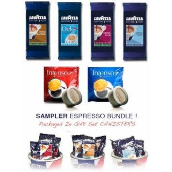 Lavazza Espresso Point Capsule Variety Sampler Bundle - Lavazza Crema & Aroma , Lavazza Decaf, Lavazza Aroma Point, Lavazza Aroma Club - 100 TOTAL capsules + BONUS 5 FREE Intenso Espresso CAPSULES
