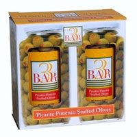 3BAR Picante Pimento Stuffed Manzanilla Olives 2 jars 32oz each