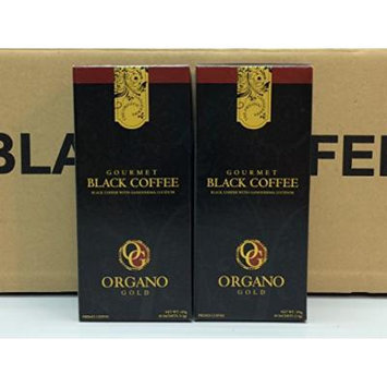 Organo Gold Gourmet Black Coffee 100% Certified Ganoderma Extract Sealed (Pack of 2)