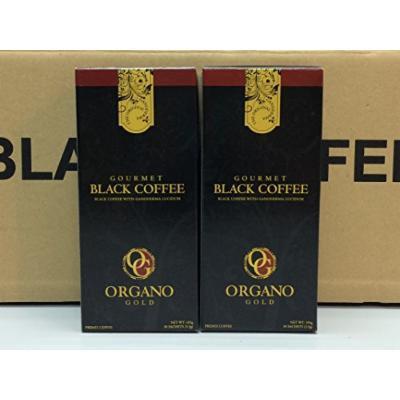 Organo Gold Gourmet Black Coffee 100% Certified Ganoderma Extract Sealed (Pack of 2)