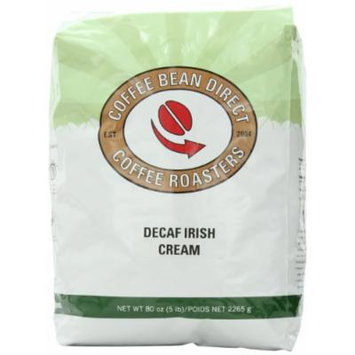 Coffee Bean Direct Decaf Irish Cream Flavored, Whole Bean Coffee, 5-Pound Bag