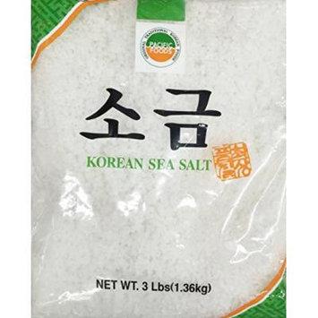 3 Pounds Pacific Foods Korean Sea Salt, Coarse, One Bag