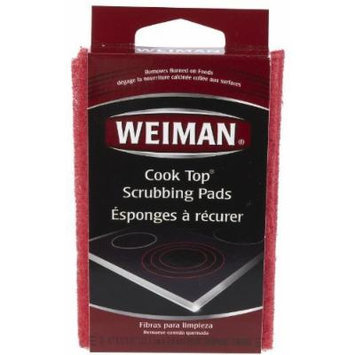 Weiman Cook Top Scrubbing Pads, 3 Pads Each (Pack of 6)