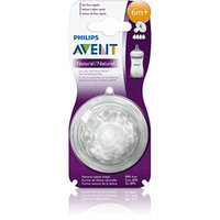 [Lot of 2] 2-Pack Philips Avent NATURAL Fast Flow Nipples 6m+ [4 TOTAL]