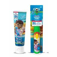 Ready...Set...Brush! Disney Jr. Doc McStuffins Turbo Power Spin toothbrush Plus Bonus Fruit Blast Anticavity Fluoride Toothpaste, 4.2 oz!