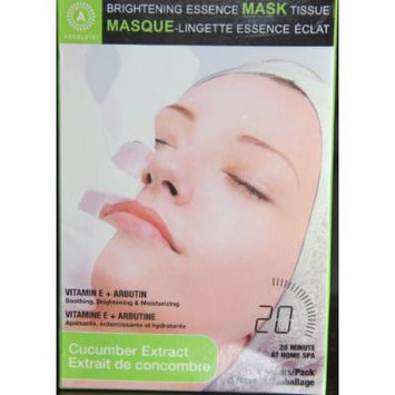 Absolute Brightening Essence Mask Tissue Cucumber Extract