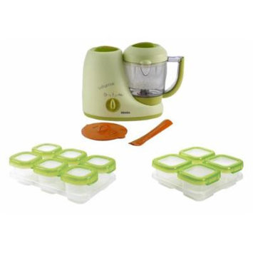 Beaba Babycook Baby Food Maker, Sorbet with Baby Blocks Storage Containers
