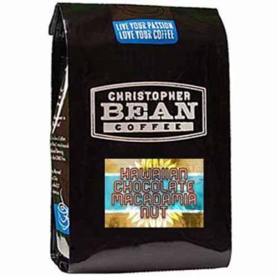 Christopher Bean Coffee Nut Flavored Whole Bean Coffee, Hawaiian Chocolate Macadamia, 12 Ounce