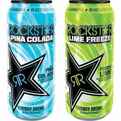 16 Pack - Rockstar Lime Freeze and Pina Colada - Variety Pack - 16oz.