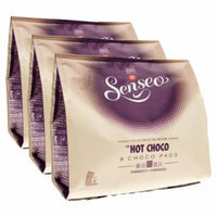 Senseo Cocoapods Hot Choco, Hot Chocolate, new design, Pack of 3, 3 x 8 Cocoa Pods