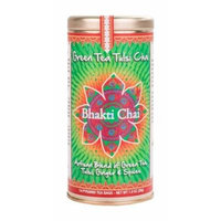 Bhakti Chai Green Tea Tulsi Chai, Two Canisters, Each with 14 Pyramid Bags