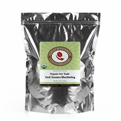 Coffee Bean Direct Organic Fair Trade, Dark Sumatra Mandheling, 2.5 Pound