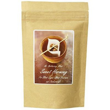 The Healing Tree Apothecary Blend Sweet Harmony, For Blood Sugar, Blood Pressure & Cholesterol, Loose Leaf Blend Tea, 2-Ounce Bags (Pack of 2)