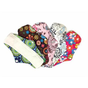 4 Bamboo Mama Cloth/ Menstrual Pads/ Reusable & Water proof Sanitary Pads / Panty Liners - PRINTS (Mixture Prints)
