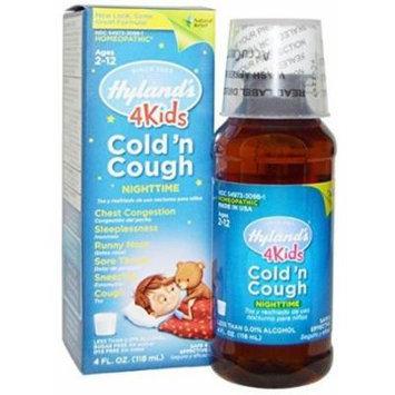 Hyland's, 4 Kids Cold 'n Cough Nighttime, Age 2-12, 4 fl oz (118 ml)