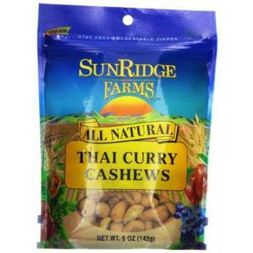 Sunridge Farms Cashews, Thai Curry, 5 Ounce (Pack of 12)