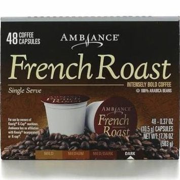 48 Ambiance K-Cup Keurig Capsules - 100% Arabica beans FRENCH ROAST