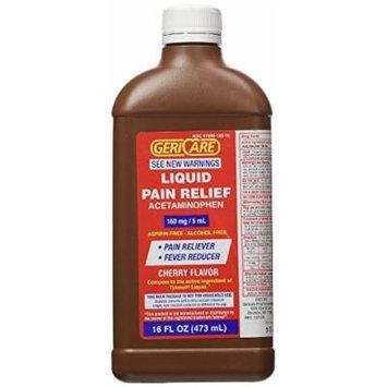 Gericare Acetaminophen Cherry Flavored Liquid 16 Oz bottle Pack of 2
