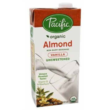 Pacific Natural Foods - Organic Almond Milk Unsweetened Vanilla - 32 oz. (Pack of 2)