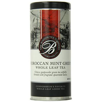 Boston Tea Loose Moroccan Mint Green Tea, 3.5 Ounce