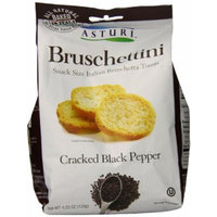 Asturi Bruschettini, Cracked Black Pepper, 4.23 Ounce